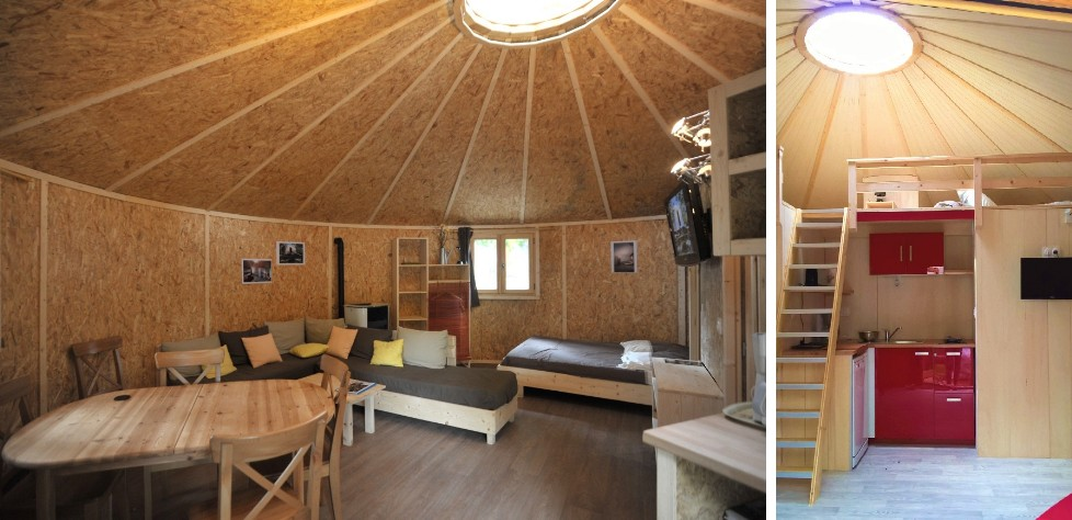 maison ossature bois ronde et yourte en bois. Black Bedroom Furniture Sets. Home Design Ideas