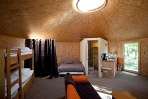 les am nagements yourte en bois. Black Bedroom Furniture Sets. Home Design Ideas